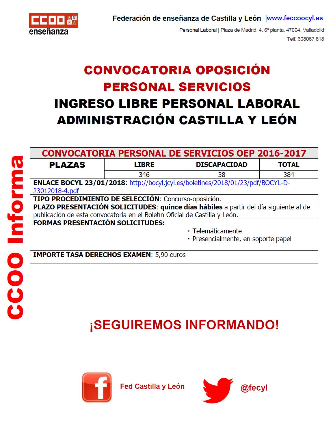 Personal Laboral de Administración CyL. Proceso selectivo. Sistema ...